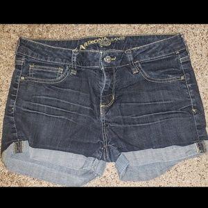 Arizona Low Rise Roll Cuff Jean Shorts